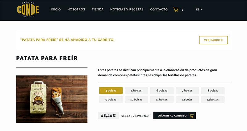 Ficha de producto Patatas Conde