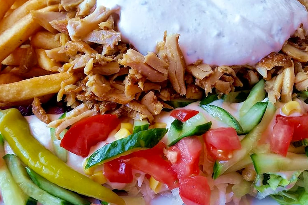 Receta de kebab con patatas