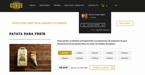 Carrito compra Patatas Conde