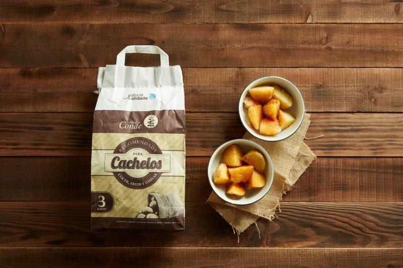 Comprar cachelos de Galicia de variedade Kennebec. Patatas Conde