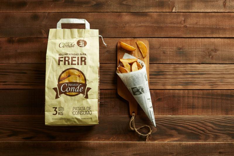 Patacas para fritir. Patatas Conde