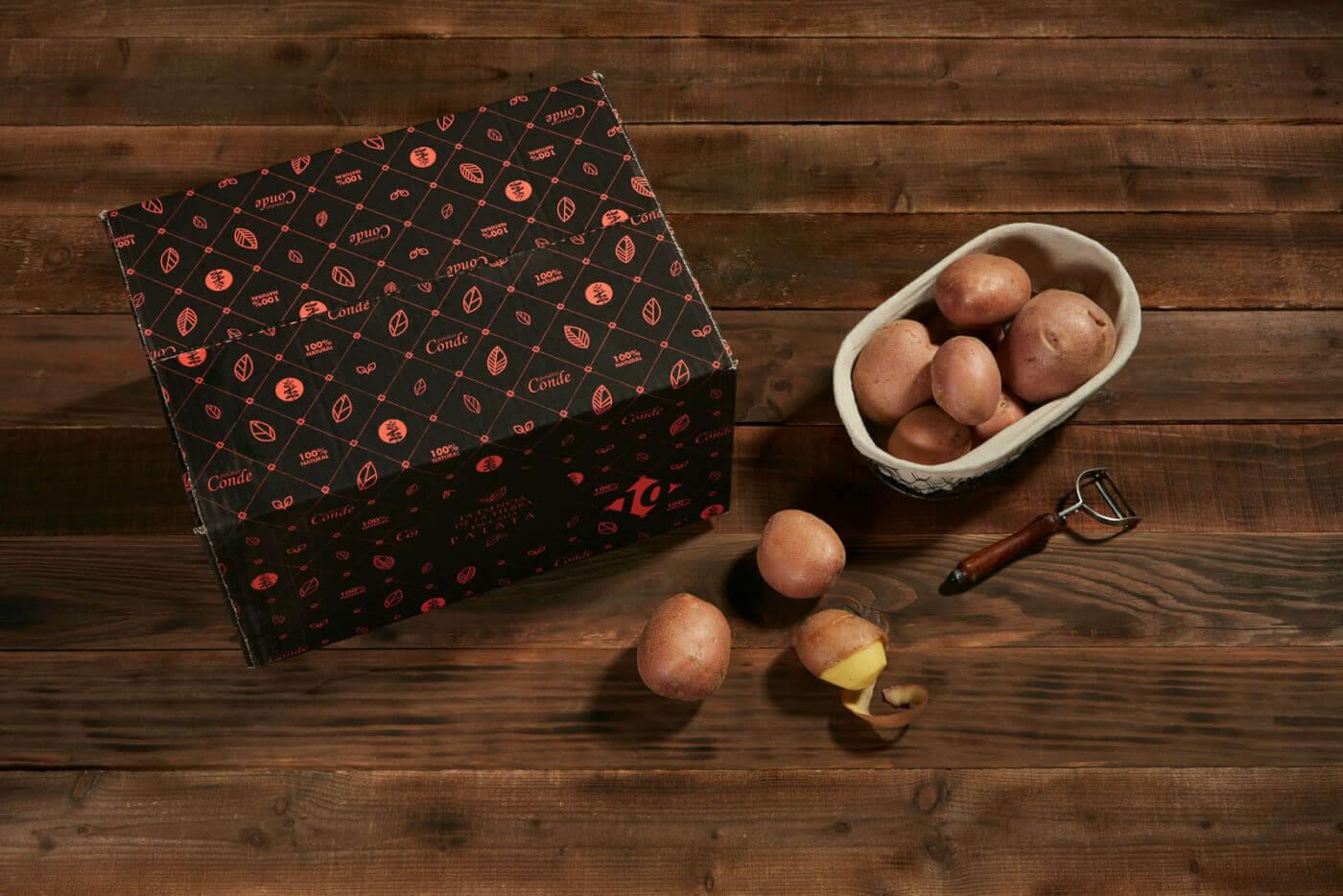 Patatas Conde - Caja Patata Roja